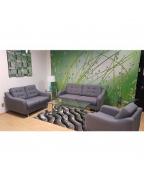 Love Seat Tommy Terna Gris Oxford