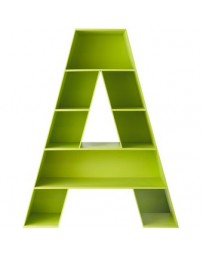 Librero Juguetero Juvenil A, Vintage Home Design, Librero A, Madera-Verde Limón - Envío Gratuito