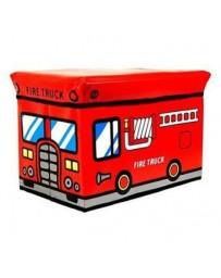 Pixnor Coche De Bomberos De Los Niños  Plegables  La Caja De Almacenaje Del Asiento Pop Up Toy Chest (color Al Azar) - Envío Gra