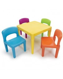 Mesa Mesitas  Juego De Sillas Infantil Niños Colores-Multicolor - Envío Gratuito