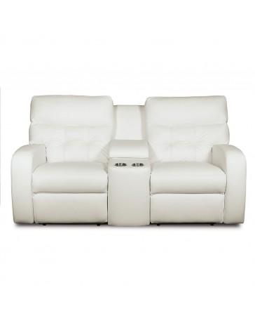 Love Seat con Consola Southgate Piel/pvc - Envío Gratuito