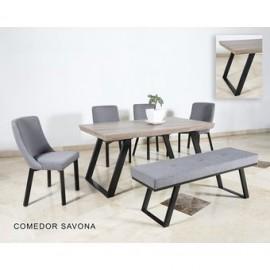 Mesa De Comedor DIMMSA Modelo Savona-Nogal - Envío Gratuito