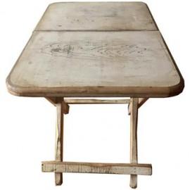 Mesa Auxiliar Plegable, Vintage Home Designe, Julia, Madera De Pino Plegable- Crema Vintage