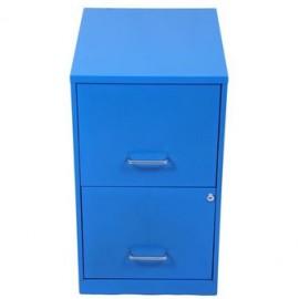 Archivero Metálico Económico De 2 Gavetas Mod.17979 Eco Azul - Envío Gratuito