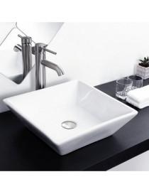 Econokit Maya Esatto paquete lavabo llave contra y céspol-Blanco y Plateado