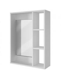 Gabinete para pared de baño con espejo y repisas