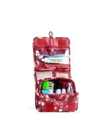 Pixnor Portable Colgante A Prueba De Agua De Lavado Neceser Bolsa De Viaje Cosméticos Bolsa Bolsa Organizador (rojo De Vino) - E