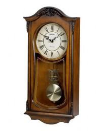 Reloj Bulova de Pared, Madera Sólida - Envío Gratuito
