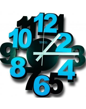 Reloj de Pared Timco, numero 3D LOC-AZUL - Envío Gratuito