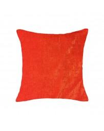Cojín Liso Pet Chenille 50X50Cm Naranja - Envío Gratuito