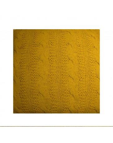 Cojín Dream Home Knitted Cable 60X60 Mostaza Dpkc - Envío Gratuito