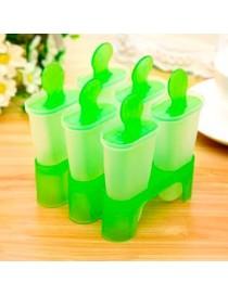 Molde De Plastico Para Paletas De Hielo Verde - Envío Gratuito