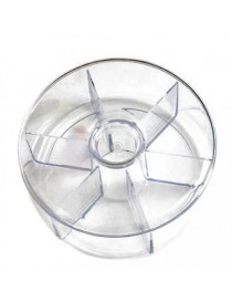Organizador Para Te Diseño Circular De Acrilico 6 Espacios Modelo SM-424765 Namaro Design
