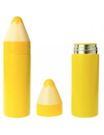 Taza Termo Forma De Lapiz De Color Amarillo Acero Inoxidable - Envío Gratuito