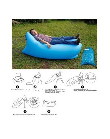 Sofa Cama Lazy Hangout De Aire Inflable Del Saco De Dormir / Sofá / Sofá Cama Para Acampar Al Aire Libre - Azul - Envío Gratuito