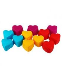 Corazón Plástico P/Muffin 12Pzs Queen Sense - Envío Gratuito
