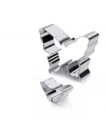 Cortadores para Galletas IBILI Modelo 735600 Forma de Mariposas 2 piezas-Plateado