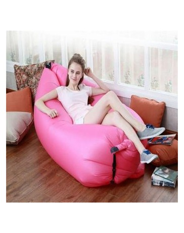 Ocio ocasionales de la playa que acampan yendo rápido inflable peces planos dormir Sofá cama de colchón de aire de color rosa -