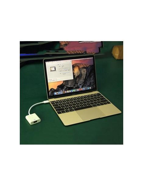 EH Tipo C USB 3.1 macho a VGA hembra adaptador de cable para Macbook 12 ' Notebook Color blanco - Envío Gratuito