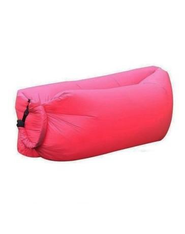 Portable al aire libre inflable Sofá / cama de playa / Camping / picnic Saco de dormir rosada - Envío Gratuito