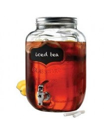 Vitrolero Para Bebidas Yorkshire Mason Jars Con Gis De 7.9 L De Vidrio-Transparente - Envío Gratuito