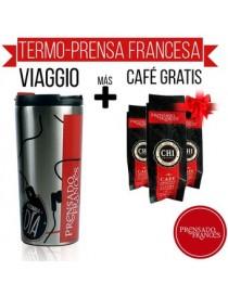 Viaggio Termo Y Cafetera Prensa Francesa Plata + DE REGALO Café - Envío Gratuito