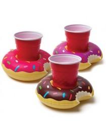 Inflable del buñuelo de la cerveza bebida café soporte para teléfono agua de la piscina para el verano - Envío Gratuito