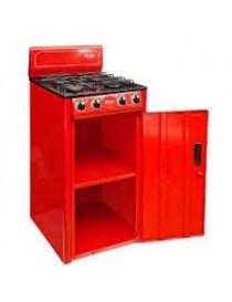 Estufa Gabinete Fraga 4 Quemadores Modelo P225 - Rojo - Envío Gratuito