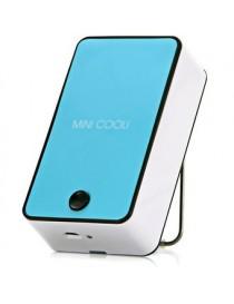 Mini Portátil De Aire Acondicionado Ventilador De Refrigeración 1400mAh 5V USB Recargable Con Soportede-Azul