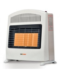 Calefactor de Ambiente Heat Wave HG5W Gas LP 5 Radiantes-Marfil - Envío Gratuito