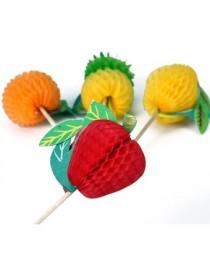Generic 50x Fruta Palos Palitos Palillos Para Decor Pastel Magdalena Cupcake Hogar DIY - Envío Gratuito