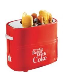 Máquina Tostadora De Hot Dogs Nostalgia HDT600COKE Temporizador Coca Cola-Roja - Envío Gratuito