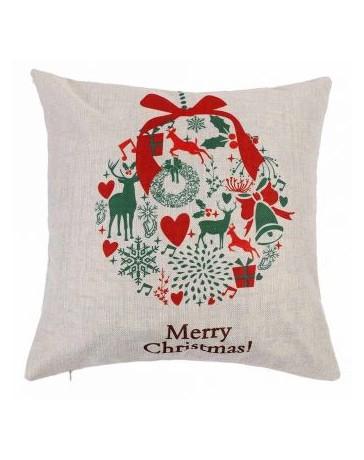 Navidad De Los Alces De La Vendimia Ciervos Santa Claus Cojín Sofá Cama Inicio Funda De Almohada Decoración - Envío Gratuito