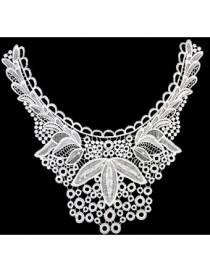 Generic Perlas Blancas De Algodón De Coser Parche Apliques 14,97 Pulgadas - Envío Gratuito
