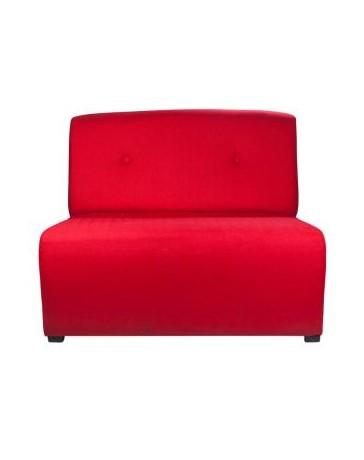 Sillón Love Seat, Vintage Home Designe, Zara, Tapizado en Tela Tipo Lino Relleno Hule Espuma- Multicolor - Envío Gratuito