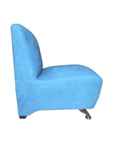 Sillón Indivudial, Vintage Home Designe, Europe, Tapizado Suede- Azul Turquesa - Envío Gratuito