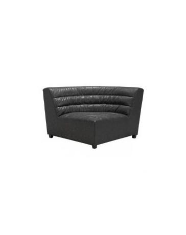 Sillon esquinero individual marca Zuo modelo Soho - negro / 100633 - Envío Gratuito