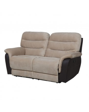Love Seat Reclinable2 Duero Knockout Beige Delta C Boal - Envío Gratuito