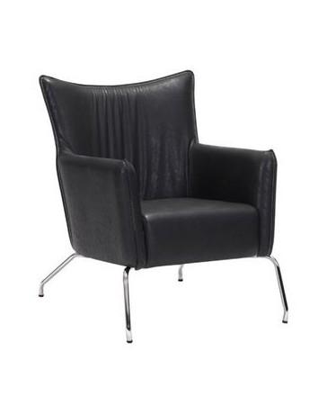 Silla ocasional marca Zuo modelo Ostend - negro / 500508 - Envío Gratuito