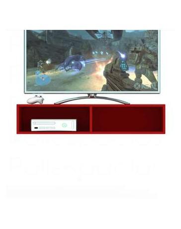 Centro Entretenimiento Mueble TV Poliespacios GALA Rojo Pasion - Envío Gratuito