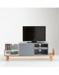 Mueble TV-The H design-Pilu Mueble TV estilo moderno-blanco - Envío Gratuito