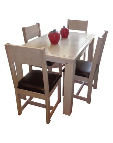 Comedor para 4 personas Venezzia-Beige Patinado Vintague - Envío Gratuito