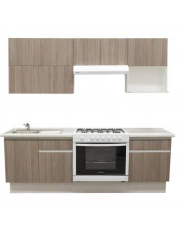 Cocina Integral Cendra 2.42M. Estufa Derecha, Tarja Izquierda - Envío Gratuito