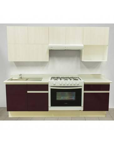 Cocina Integral Rouge 2.42M. Estufa Derecha, Tarja Izquierda - Envío Gratuito