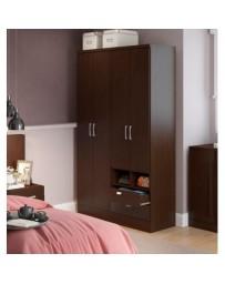 Ropero Closet Bertolini 597 4 Puertas 2 Cajones -Chocolate - Envío Gratuito