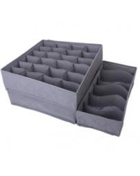 MagiDeal 3pcs Organizador Caja Carbón Bambú Plegable De Ropa Interior Calcetines Corbata - Envío Gratuito