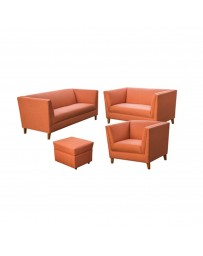 Casandra Love Seat Lino Orange - Envío Gratuito