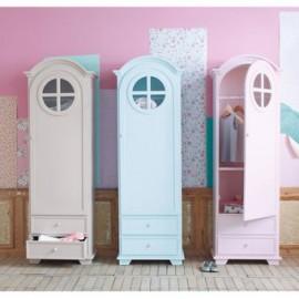 Armario Gabinete Infantil, Vintage Home Design, Baby Navy, Repisas Madera- Crema Rosa Azul - Envío Gratuito