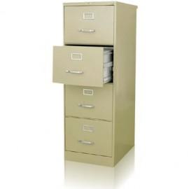 Archivero Hirsh Metálico De 4 Gavetas Oficio Beige Mod. 14118 - Envío Gratuito