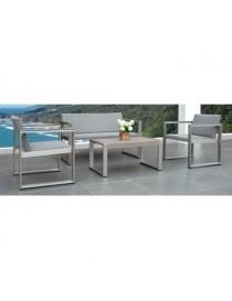 Sala en aluminio Moblare 5040ABC gris - Envío Gratuito